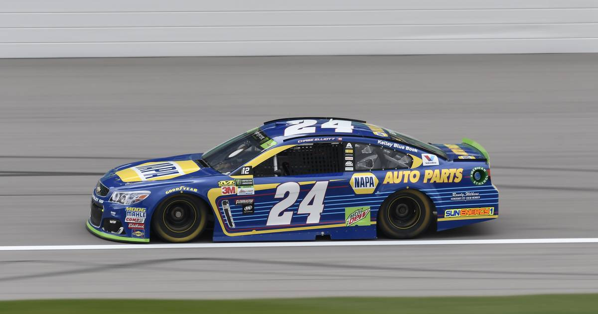 Monster Energy NASCAR Cup Series Hollywood Casino 400 Kansas Speedway, Kansas City, KS USA Saturday 21 October 2017 Chase Elliott, Hendrick Motorsports, NAPA Chevrolet SS World Copyright: John K Harrelson NKP