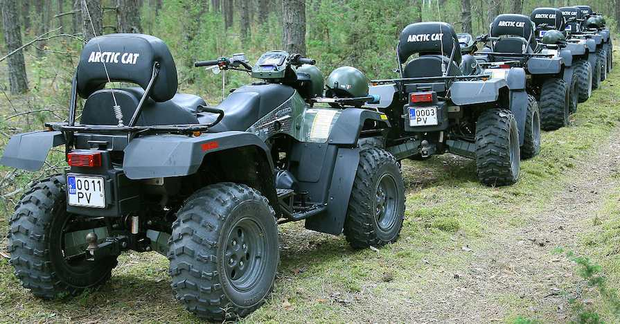 Proper ATV maintenance allows you to keep driving like this for years.