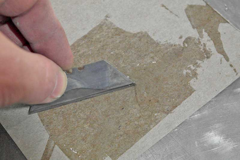 Mix the epoxy together until completely blended.