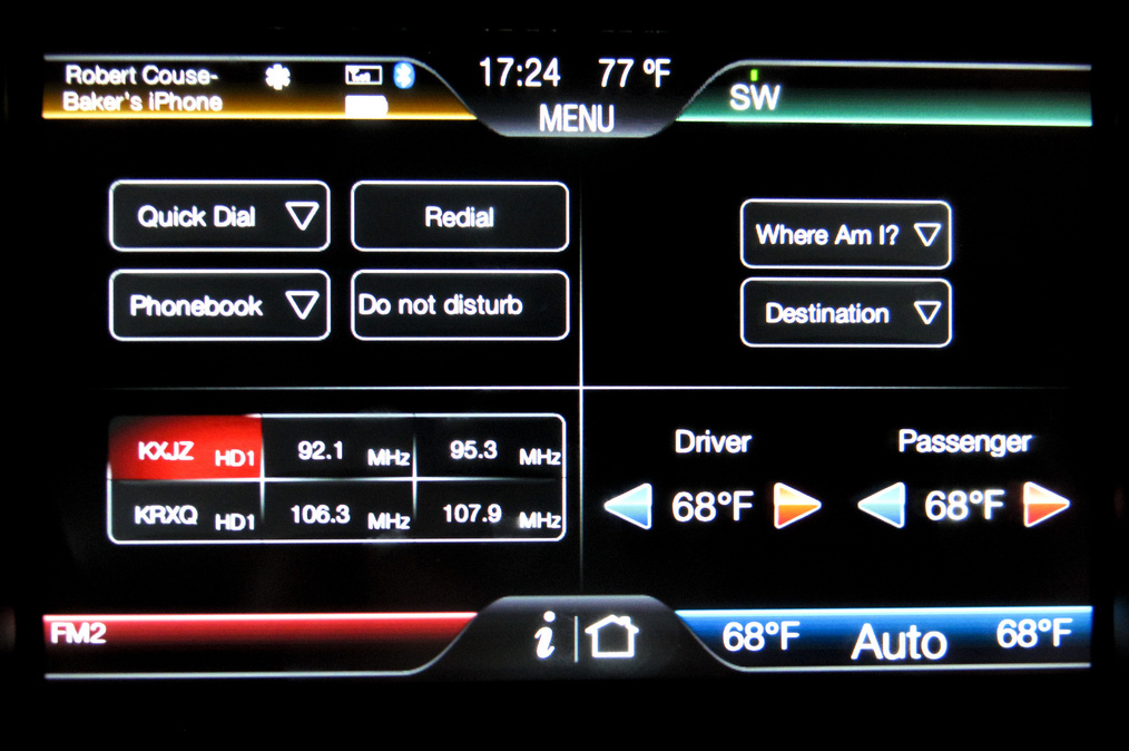 Touchscreen dashboards are automotive industry trends