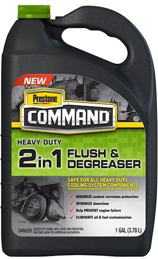 Prestone® HD 2in1 Flush and Degreaser bottle