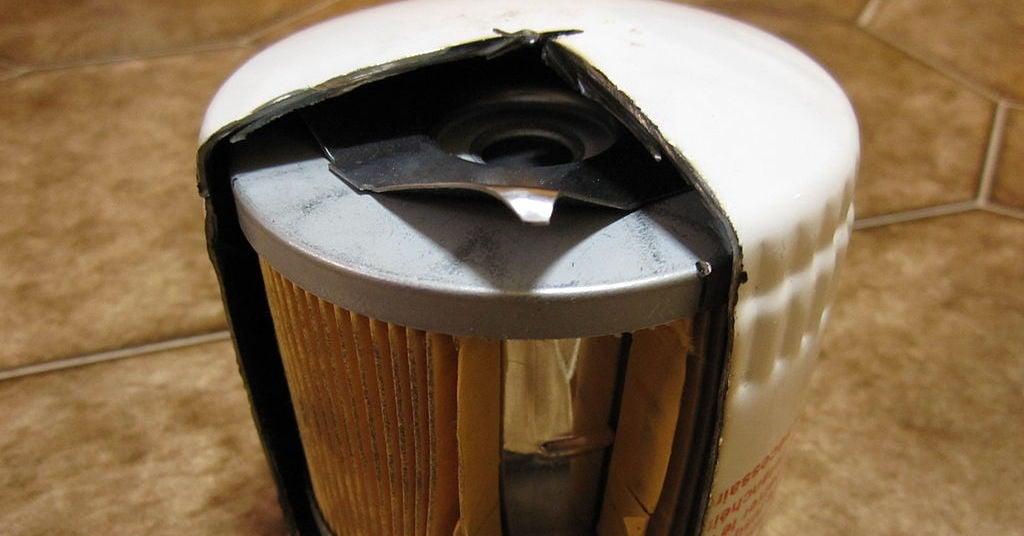 A car oil filter.