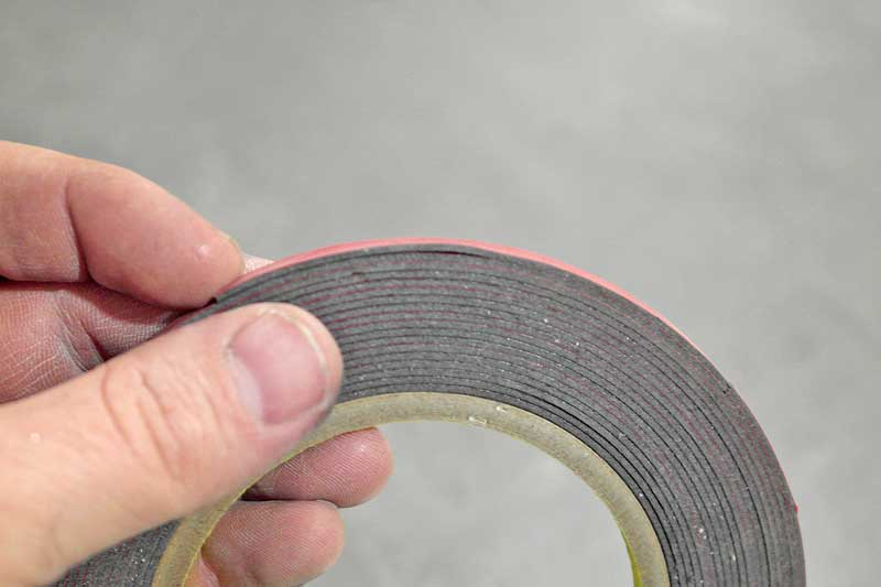 Double sided tape is very useful for all types of automotive uses, such as emblems and even holding door panels and other parts in place.