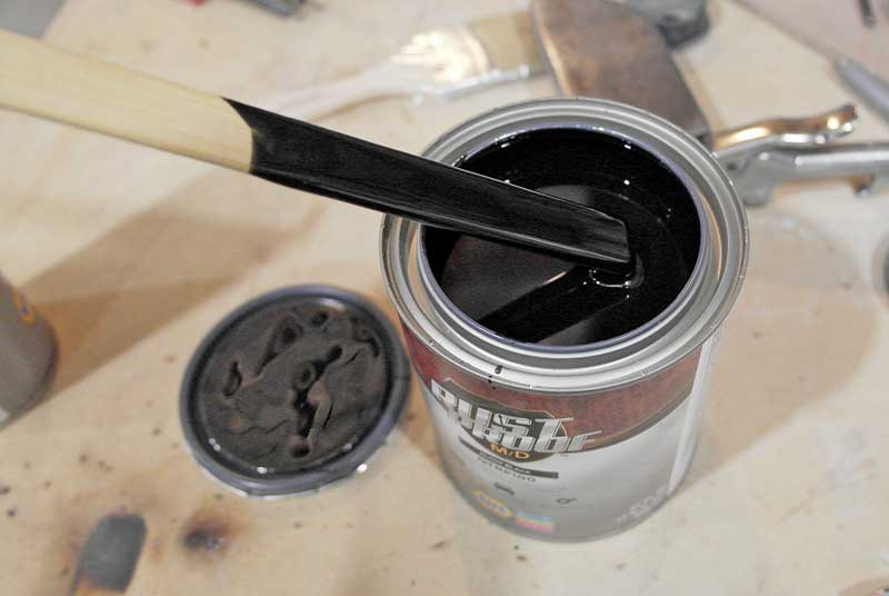 RustProof M/D is very thick, so you it only need a light stir before use. DO NOT put it in a paint shaker or whip the paint up with the stir stick, as this puts bubbles in the paint and it will show once it dries.
