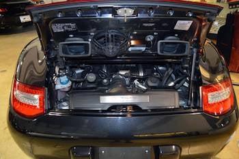 rear mounted engine in a Porsche 911
