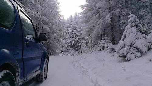 Winter driving deep snow