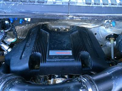 A look under the hood of the Ford F-150 Raptor pickup truck