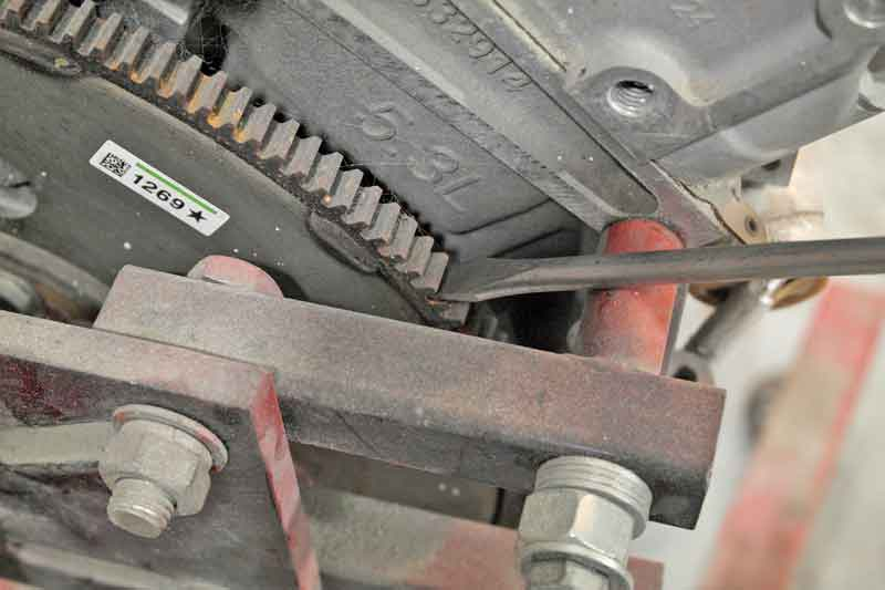 Why would you treat your tools in such a way that could damage them? Spinning the flexplate on an engine is best accomplished with an actual pry bar.