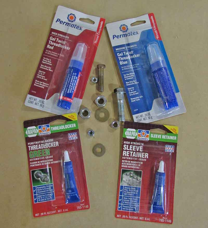 Far too often overlooked or forgotten, you should always have a couple tubes of threadlocker on hand for those important fasteners that need it.