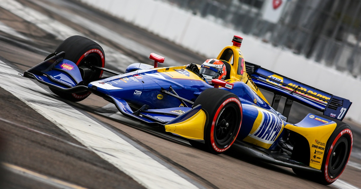 | Driver: Alexander Rossi| Team: Andretti Autosport| Number: 27| Car: Honda|| Photographer: Andy Clary| Event: Grand Prix of St Petersburg| Circuit: St Petersburg| Location: Florida| Series: Verizon IndyCar Series| Season: 2018| Country: US| | Session: Qualifying| Keyword: motorsport| Keyword: Verizon| Keyword: motor racing| Keyword: Saturday| Keyword: open wheel| Keyword: single seater| Keyword: Firestone
