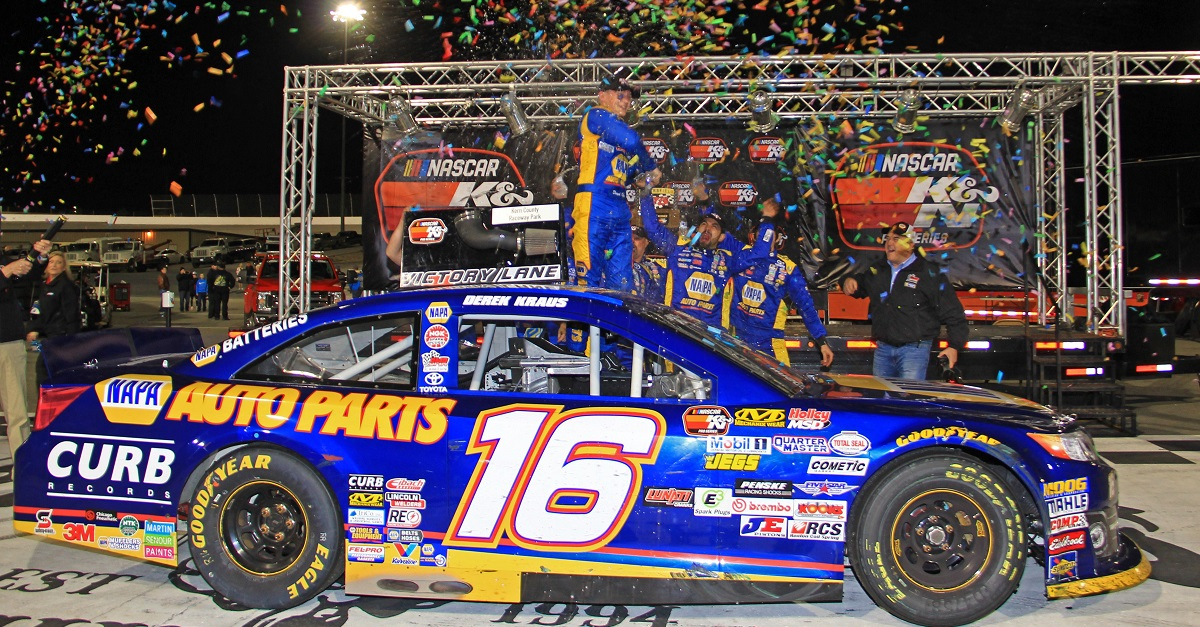 Derek Kraus Wins NASCAR KN West 2018 Kern 16 victory lane