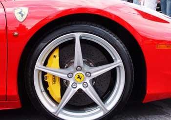 Cross-drilled brake rotors