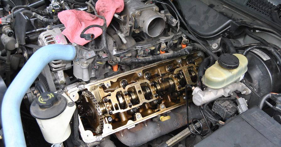 Under the hood of this Mercury Grand Marquis is a noninterference engine.