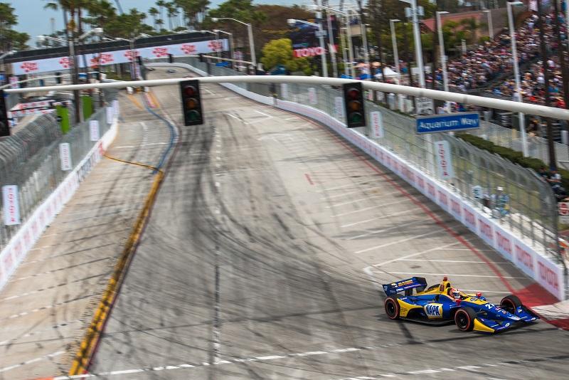 | Driver: Alexander Rossi| Team: Andretti Autosport| Number: 27| Car: Honda| | Photographer: Dan Bathie| Event: Toyota Grand Prix of Long Beach| Circuit: Streets of Long Beach| Location: Long Beach| Series: Verizon IndyCar Series| Season: 2018| Country: US|