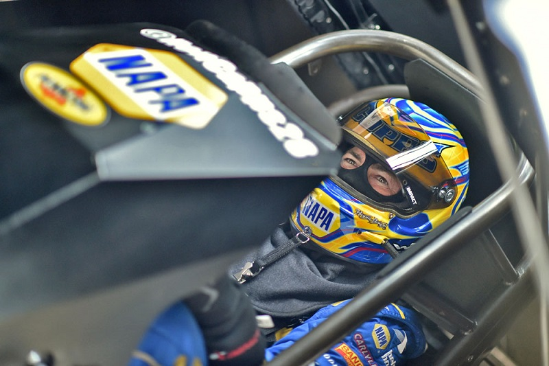 Ron Capps in the driver's seat
