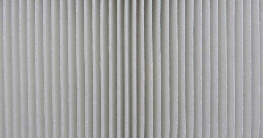 A close-up of an automotive air filter.