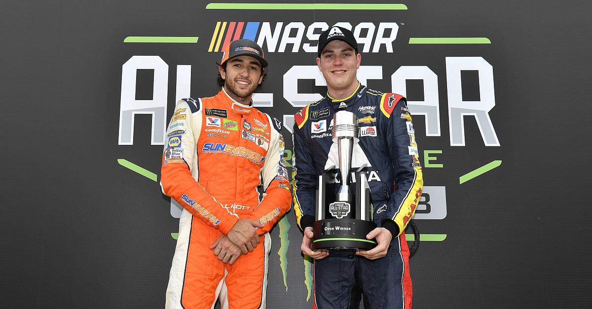 #9: Chase Elliott, Hendrick Motorsports, Chevrolet Camaro SunEnergy1 and #88: Alex Bowman, Hendrick Motorsports, Chevrolet Camaro Axalta