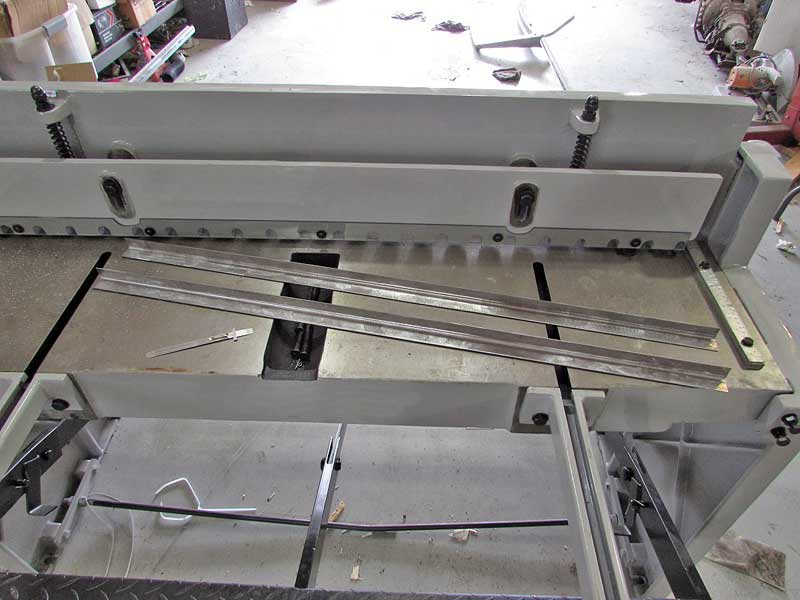 A basic stomp sheer like is a godsend to any sheet metal fabricator. They are not cheap, so chances are you won't have one in your shop.