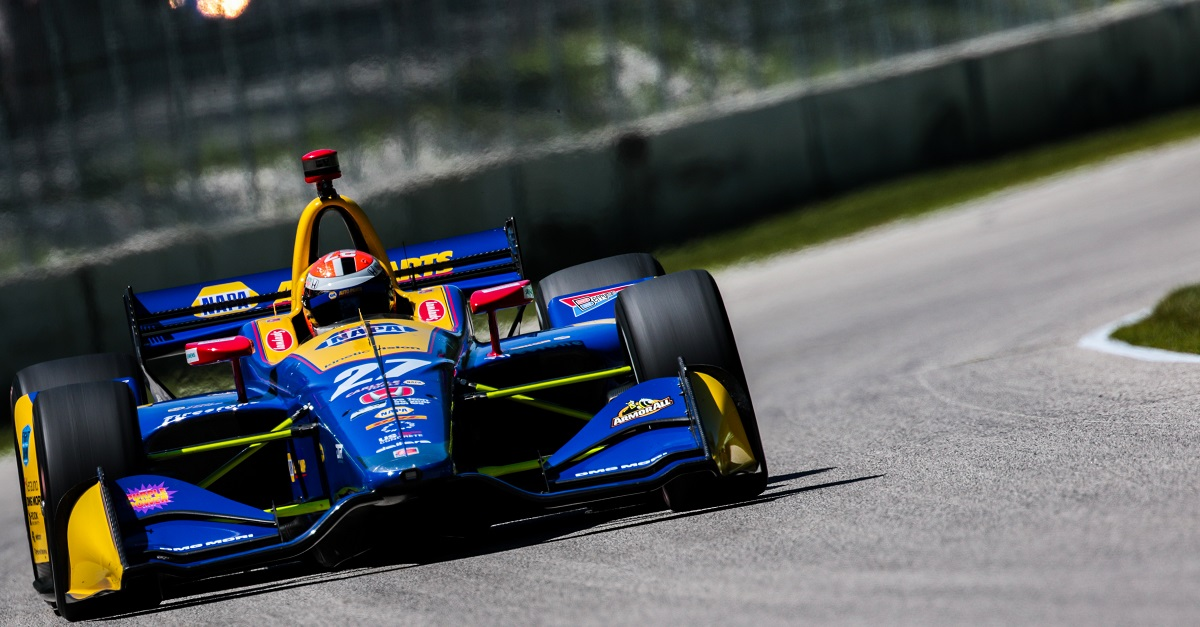 | Driver: Alexander Rossi| Team: Andretti Autosport| Number: 27| Car: Honda|| Photographer: Andy Clary| Event: Kohler Grand Prix| Circuit: Road America| Location: Elkhart Lake| Series: Verizon IndyCar Series| Season: 2018| Country: US| Keyword: motor racing| Keyword: motorsport|| Session: P3|