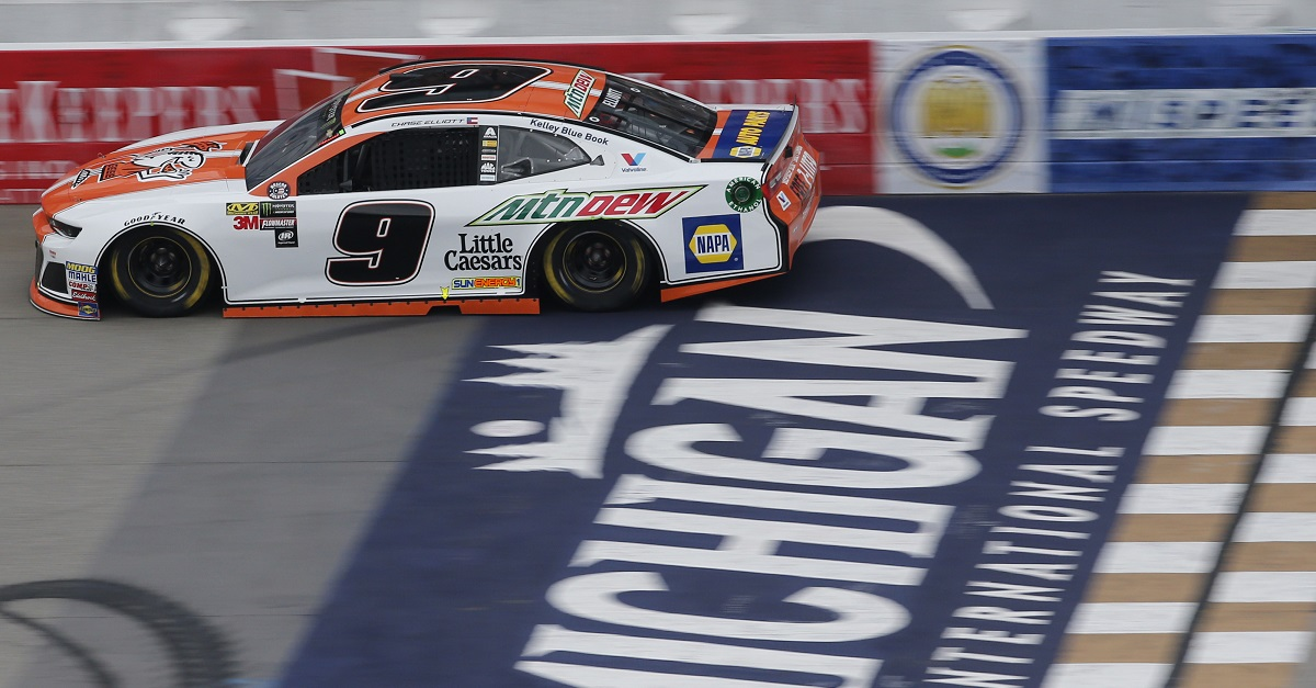 #9: Chase Elliott, Hendrick Motorsports, Chevrolet Camaro Mountain Dew / Little Caesars