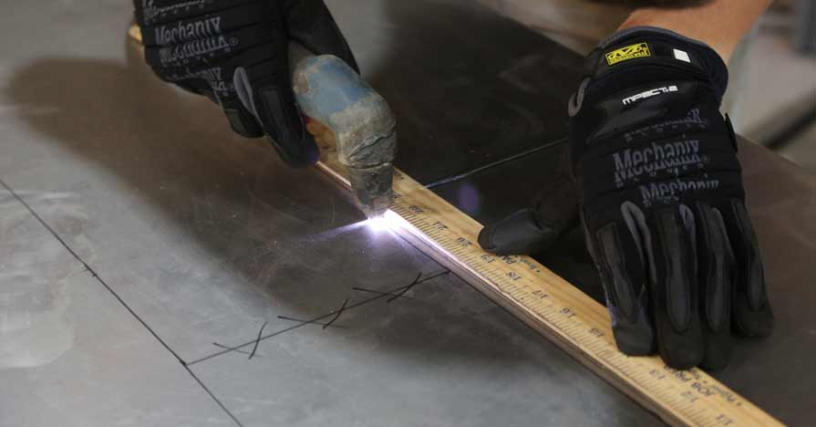 how to cut sheet metal - using a plasma cutter for example