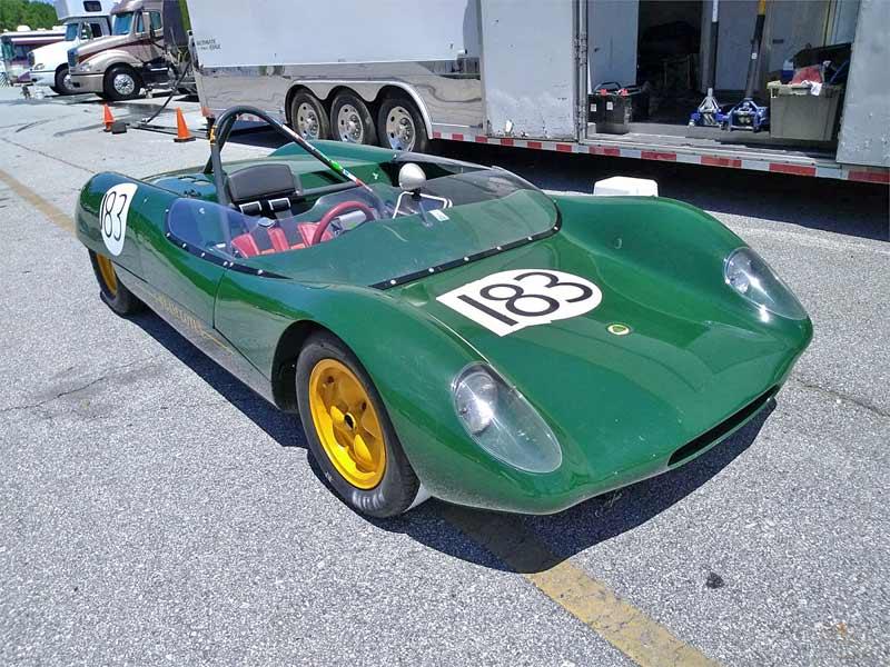 a green racecar