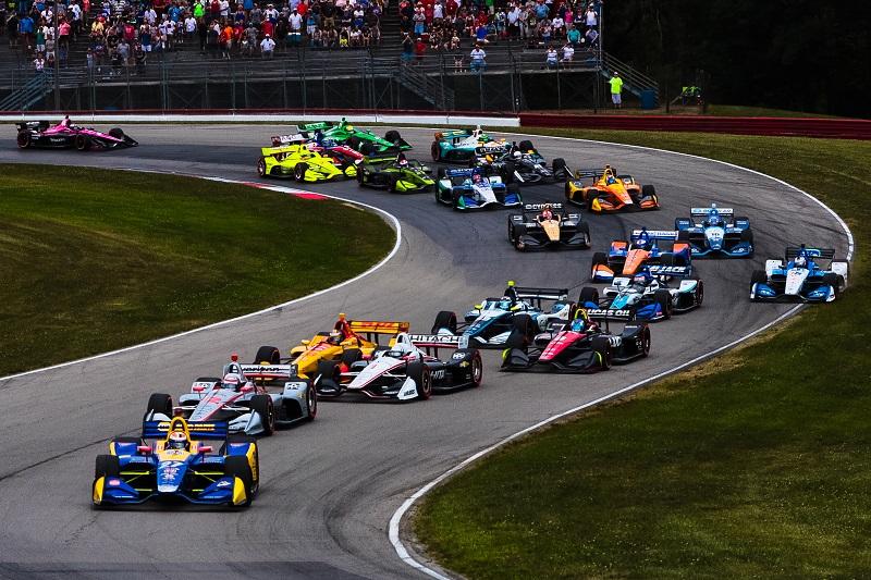 | Photographer: Andy Clary| Event: Honda Indy 200|Circuit: Mid-Ohio Sportscar Course| Location: Lexington, Ohio| Series: Verizon IndyCar Series| Season: 2018| Country: US| Session: race|Keyword: race start|Keyword: start|Keyword: instant upload|Keyword: Detroit GP|Keyword: Dual in Detroit|Keyword: dual 2|Keyword: Sunday|