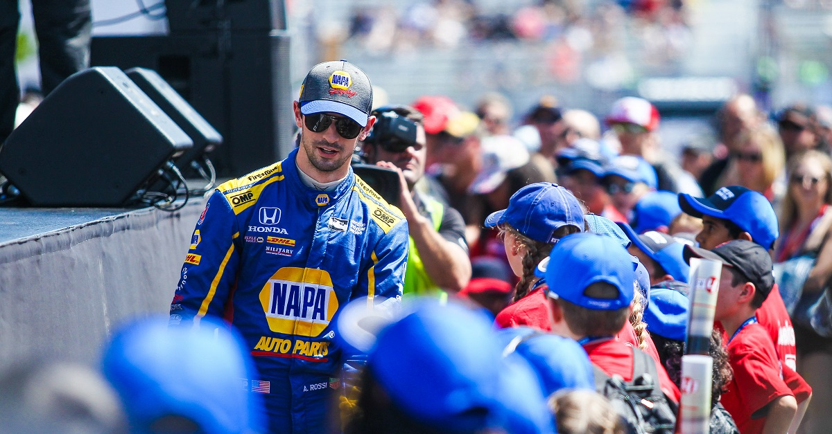 ort| Keyword: Exhibition Place| Keyword: Canada| | Session: Race| | Driver: Alexander Rossi| Team: Andretti Autosport| Number: 27| Car: Honda|