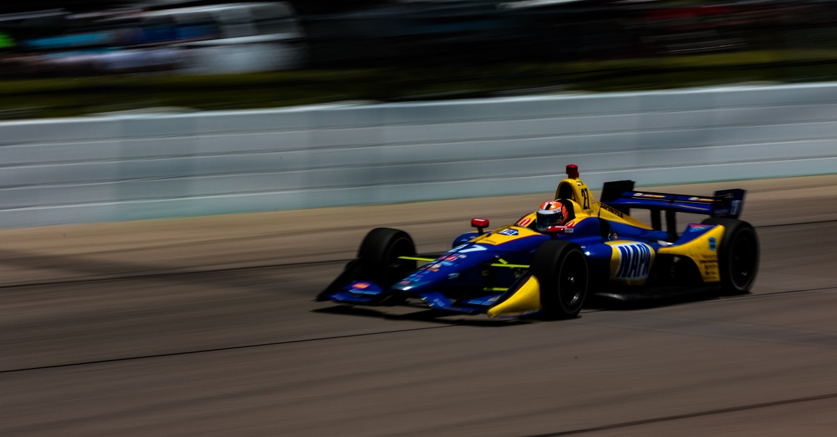 | Driver: Alexander Rossi| Team: Andretti Autosport| Number: 27| Car: Honda| | Photographer: Andy Clary| Event: Iowa Corn 300| Circuit: Iowa Speedway| Location: Newton, Iowa| Series: Verizon IndyCar Series| Season: 2018| Country: US| Keyword: motor racing| Keyword: motorsport|| Session: Race|