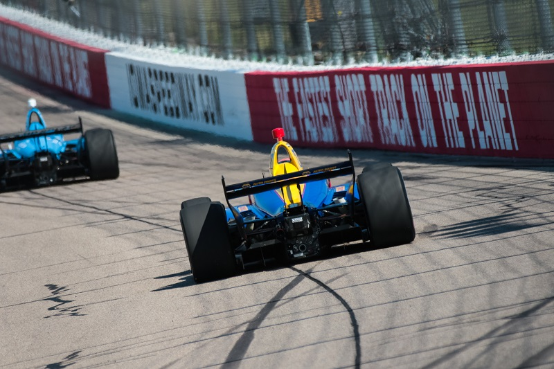 | Driver: Alexander Rossi| Team: Andretti Autosport| Number: 27| Car: Honda|| Photographer: Andy Clary| Event: Iowa Corn 300| Circuit: Iowa Speedway| Location: Newton, Iowa| Series: Verizon IndyCar Series| Season: 2018| Country: US| Keyword: motor racing| Keyword: motorsport|| Session: P1|