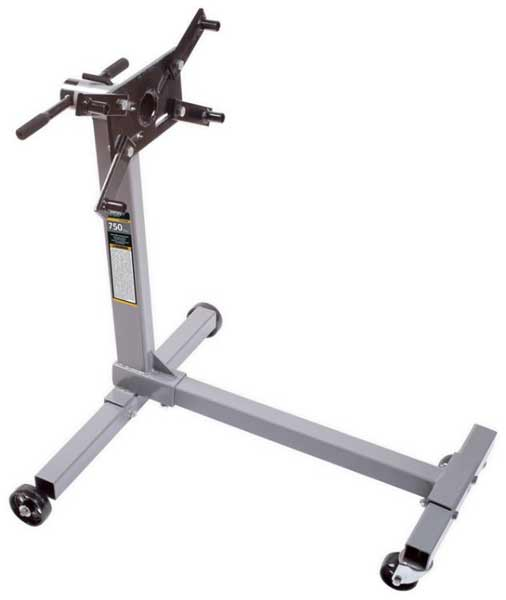 The standard 3-leg engine stand is a stable of DIY garages around the world. They are strong and stable.