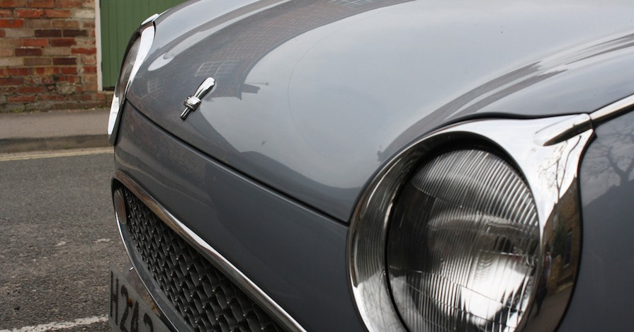 These headlights on the Nissan Figaro – a sports car – were given headlight ratings from the IIHS.