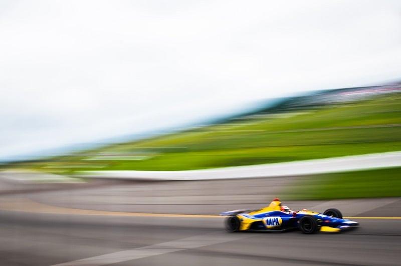 |Photographer: Jamie Sheldrick|Session: race|Event: ABC Supply 500|Circuit: Pocono Raceway|Location: Long Pond, PA|Series: Verizon IndyCar Series|Season: 2018|Country: US|Car: Honda|Number: 27|Team: Andretti Autosport|Driver: Alexander Rossi|