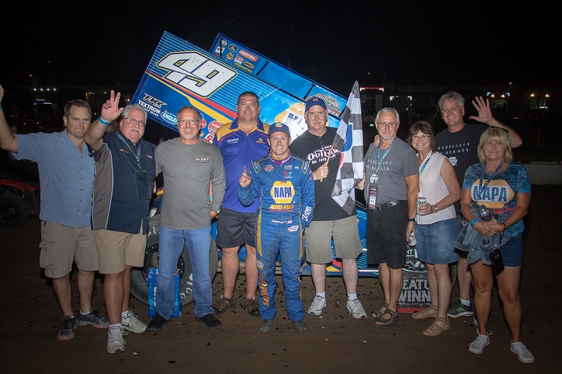 Brad Sweet Black Hills Speedway NAPA 49 Outlaws parked it