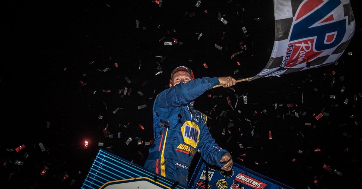 Brad Sweet Black Hills Speedway NAPA 49 Outlaws winner