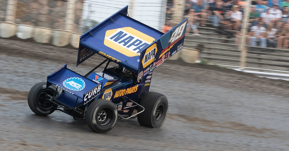 Brad Sweet North Dakota 2018 NAPA 49 Outlaws sprint car feat