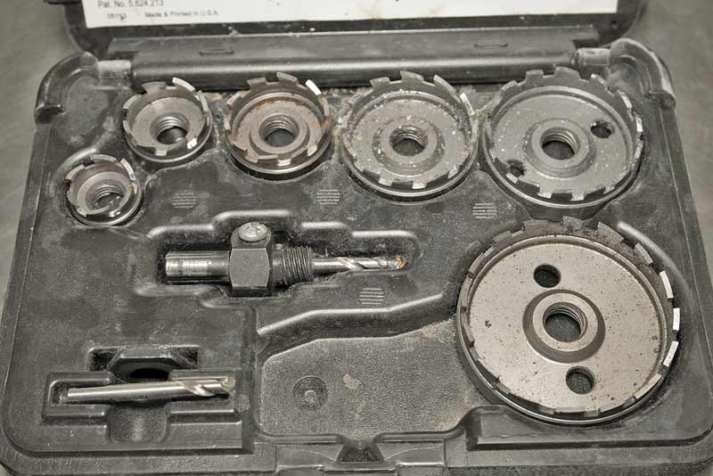 This hole saw kit is a broaching set. These are expensive, but when used correctly, will last for years.