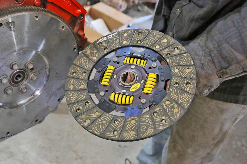 The clutch has two sides, one side is usually marked to the flywheel, they must be installed correctly.