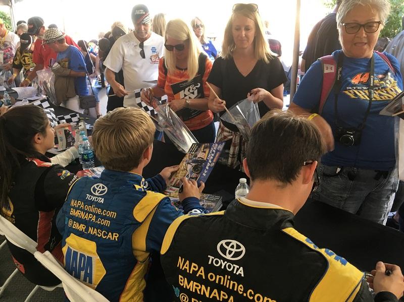 BMR NAPA drivers autograph session Dirt Track Las Vegas 2018