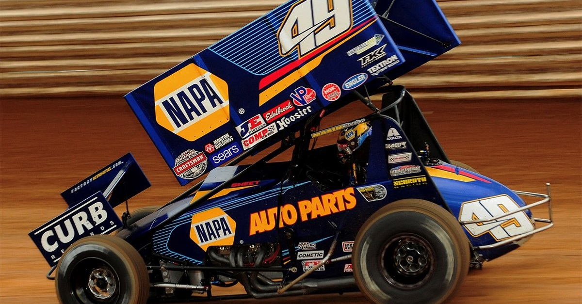 Brad Sweet NAPA AUTO PARTS 49 Port Royal 2018 Outlaws sprint car