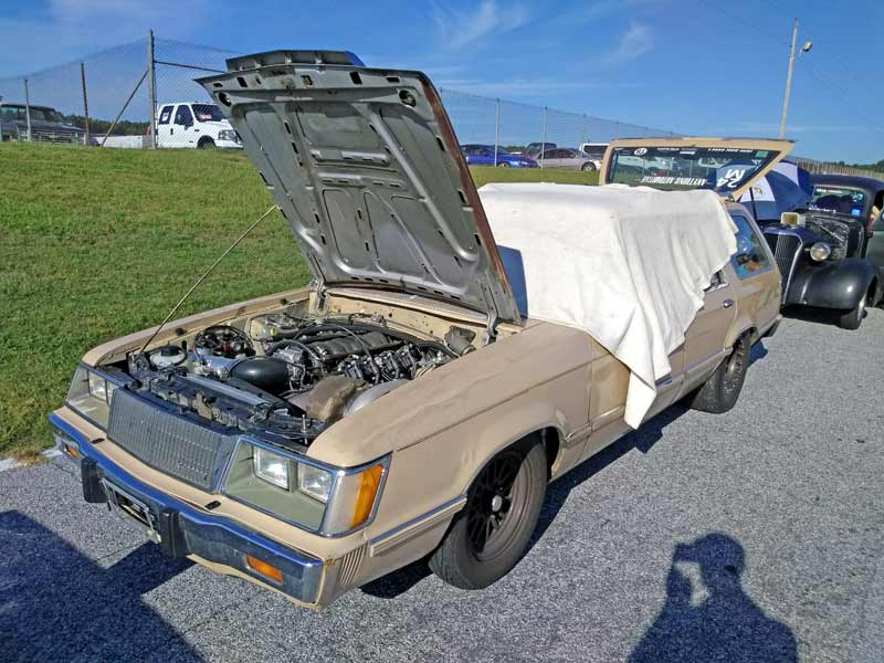 A LS swapped Ford Fairmont wagon at Drag Week