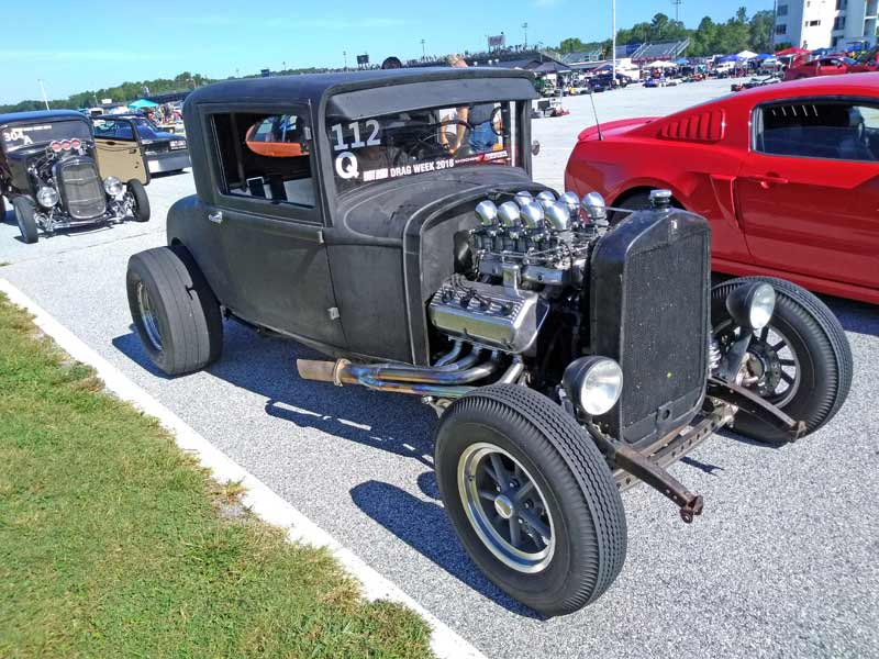 Hot rod at Drag Week 2018