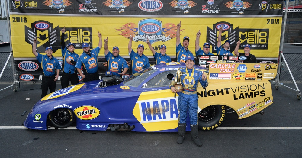 Ron-Capps-Carolina-Nationals-2018-Wally-NAPA-Nightvision-Lamps-winners-circle
