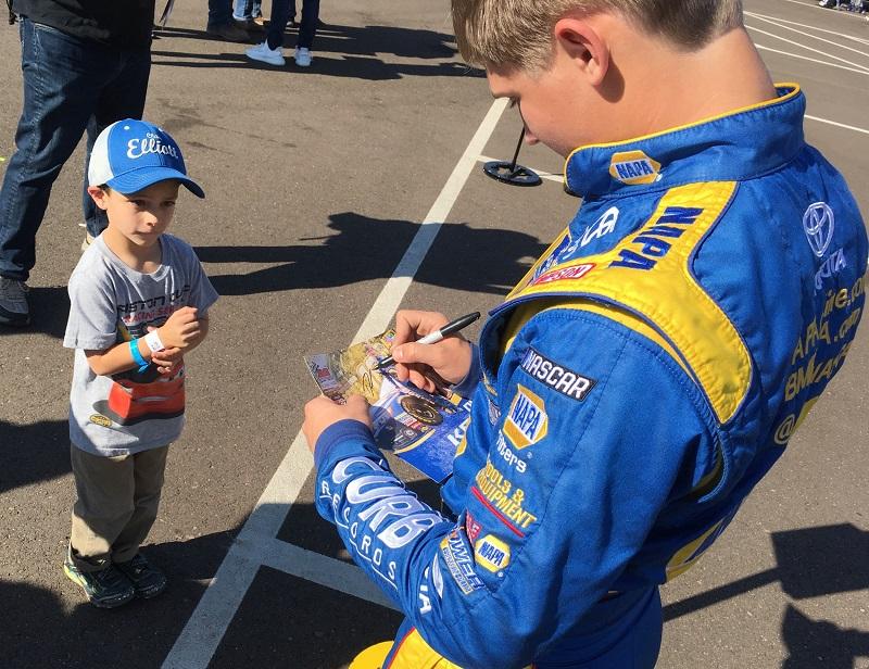 Derek Kraus NASCAR Camping World Truck Series debut Phoenix 2018 autograph