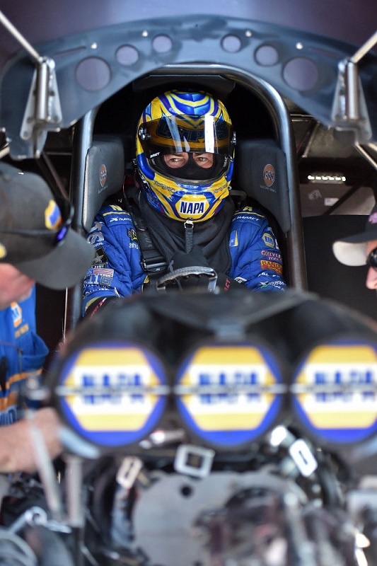 Ron Capps driver seat