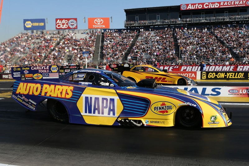 Ron Capps at the starting line