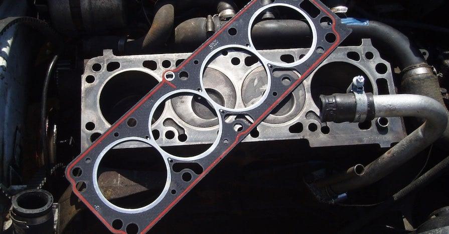 An engine's head gasket.