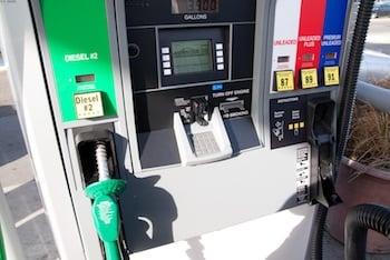 Gas pump wondering about benefits of premium gas