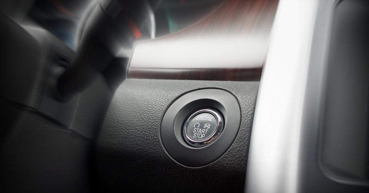 A car's push-button ignition system. If you have trouble starting your car, here are four signs that point toward a failing starter.