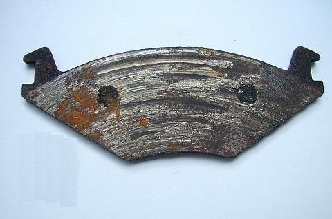 Worn brake pad